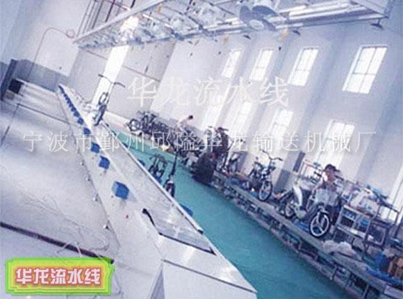 青岛电动车组装流水线